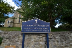 St Thomas, Elsfield - the new church sign board